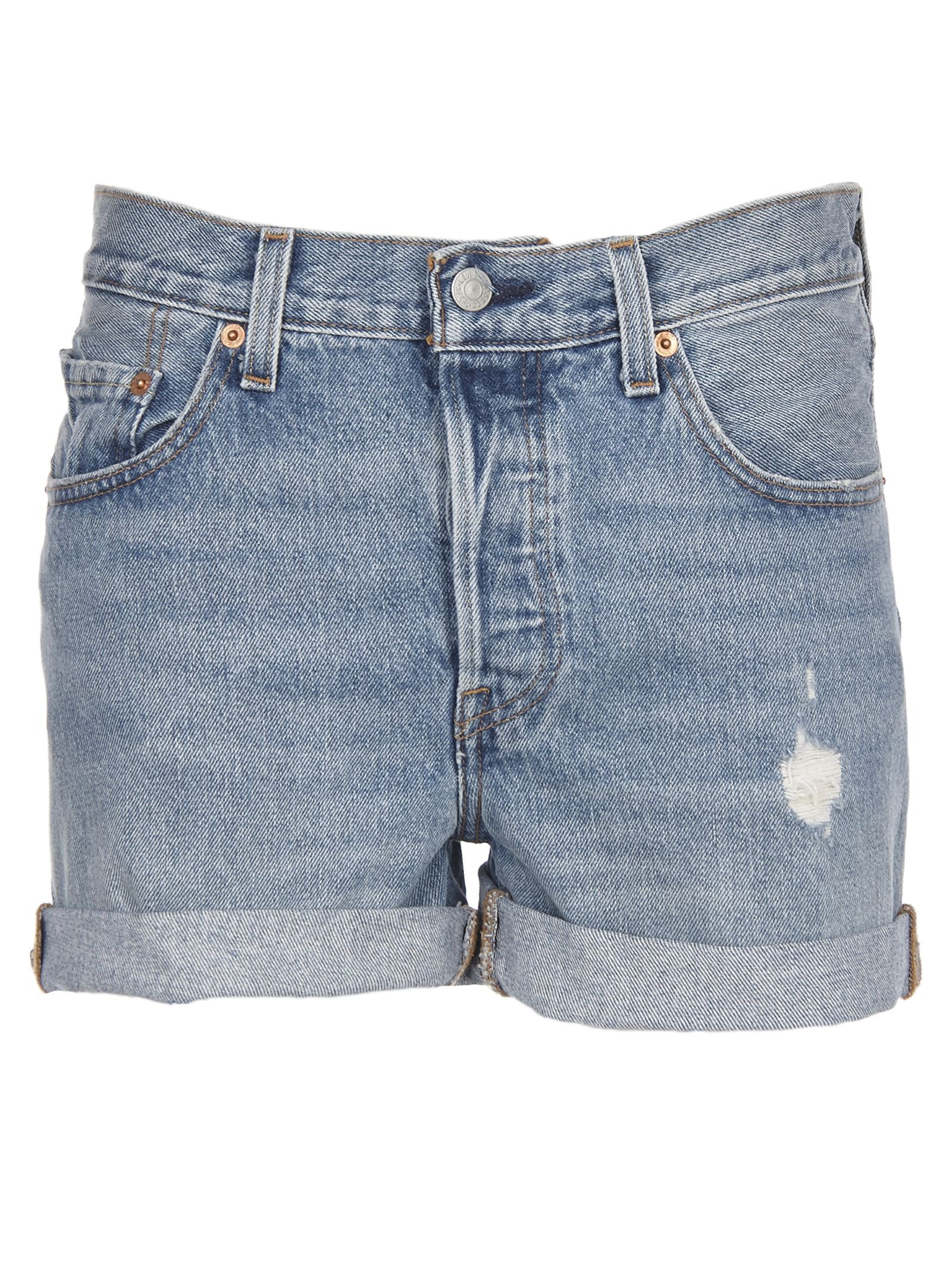 Levis Distressed Denim Shorts