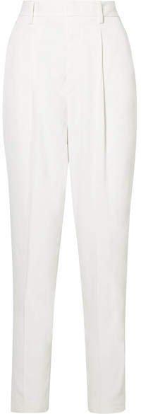 Poyd Crepe Straight-leg Pants - White