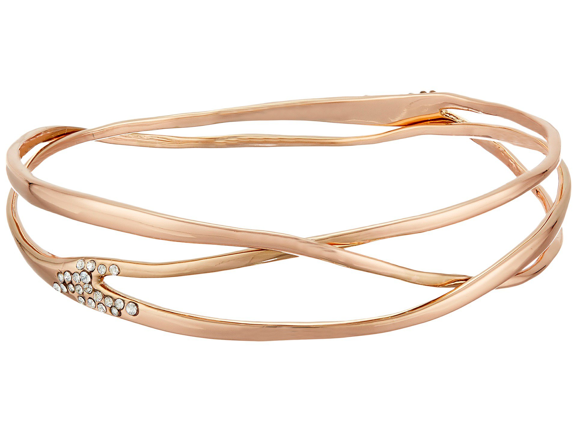 Alexis Bittar Liquid Bangle Bracelet Rose Gold