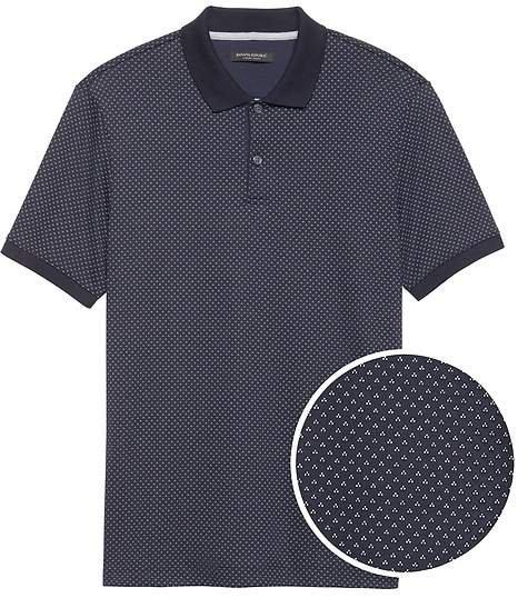 Luxury-Touch Tri-Dot Polo