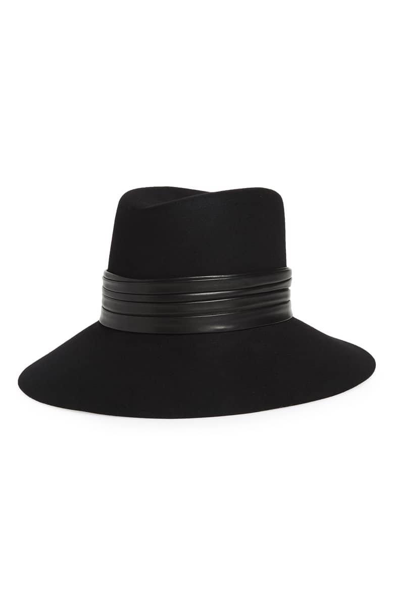 Saint Laurent Nina Fur Felt Hat | Nordstrom