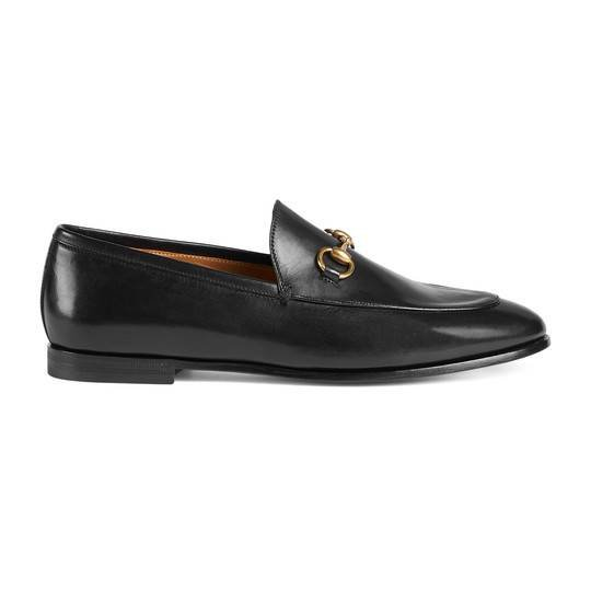 Gucci Jordaan leather loafer in Black leather | Gucci Women's Moccasins & Loafers