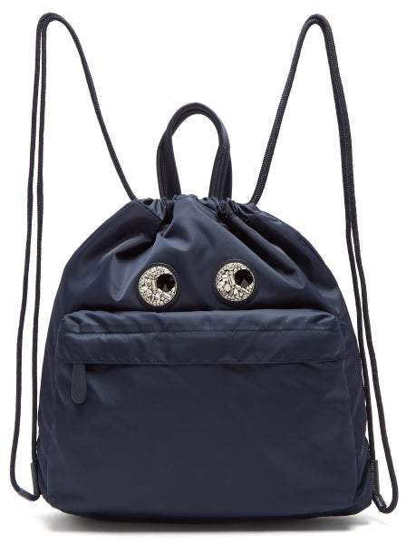 Eyes Shell Backpack - Womens - Navy