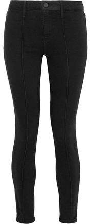 Delaney Stretch-cotton Twill Skinny Pants
