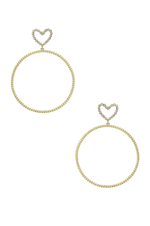 The Dotted Heart Hoop Earrings
