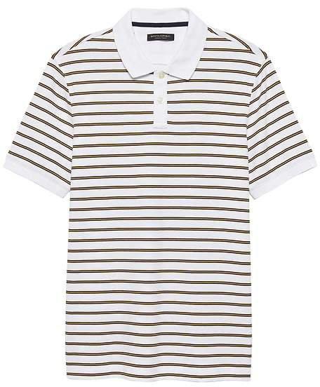 Luxury-Touch Allover Stripe Polo