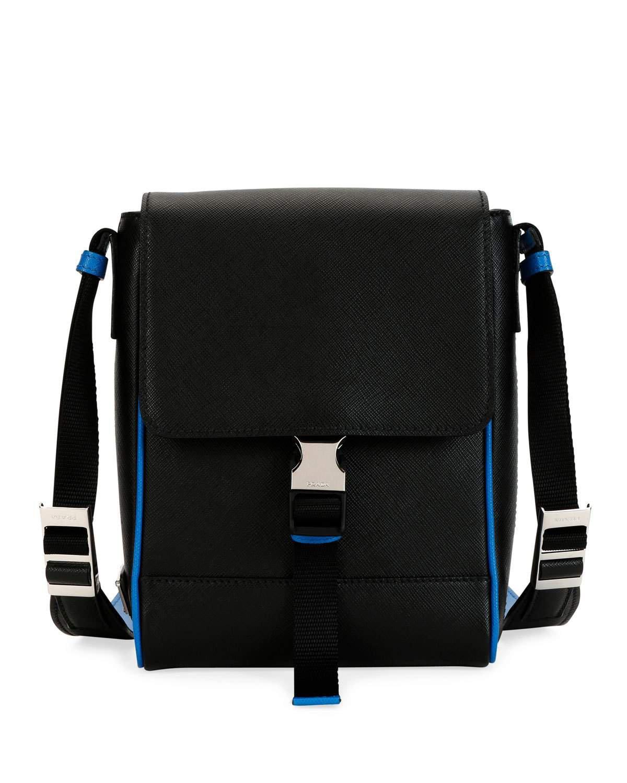 Prada Saffiano Leather Travel Messenger Bag