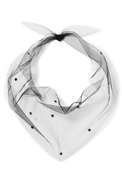 Pan & The Dream | Swarovski crystal-embellished tulle scarf | NET-A-PORTER.COM