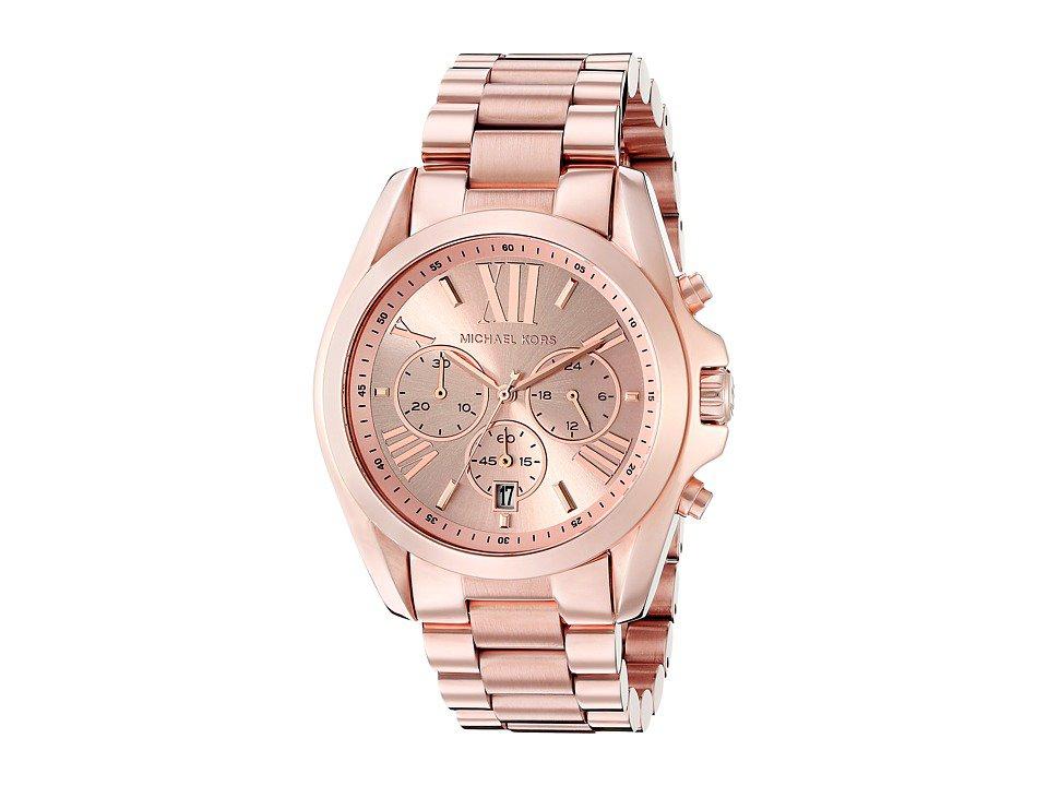 Michael Kors - MK5503 - Bradshaw Chronograph (Rose Gold IP) Watches
