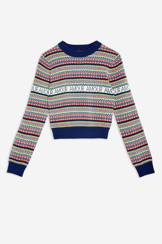 Slogan Fair Isle Jumper - Sweaters & Knits - Clothing - Topshop USA