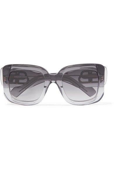 Balenciaga | Oversized square-frame dégradé acetate sunglasses | NET-A-PORTER.COM