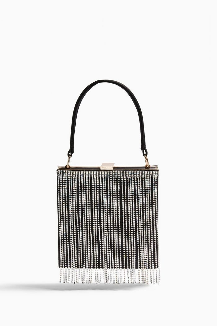 GATSBY Black Boxy Diamante Bag | Topshop
