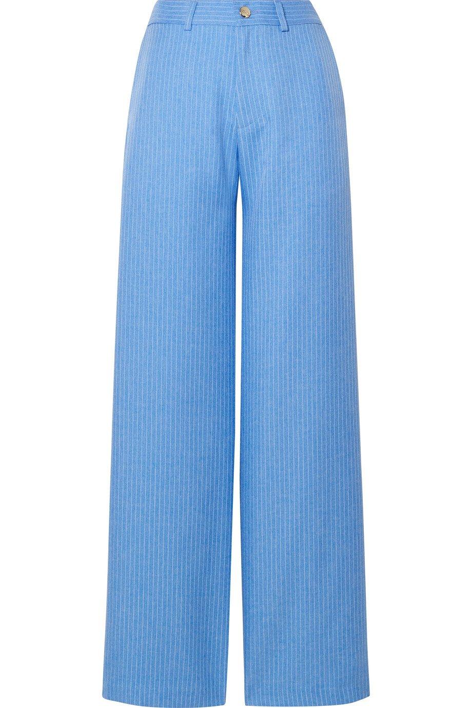 Maggie Marilyn | + NET SUSTAIN Go Getter pinstriped woven straight-leg pants | NET-A-PORTER.COM