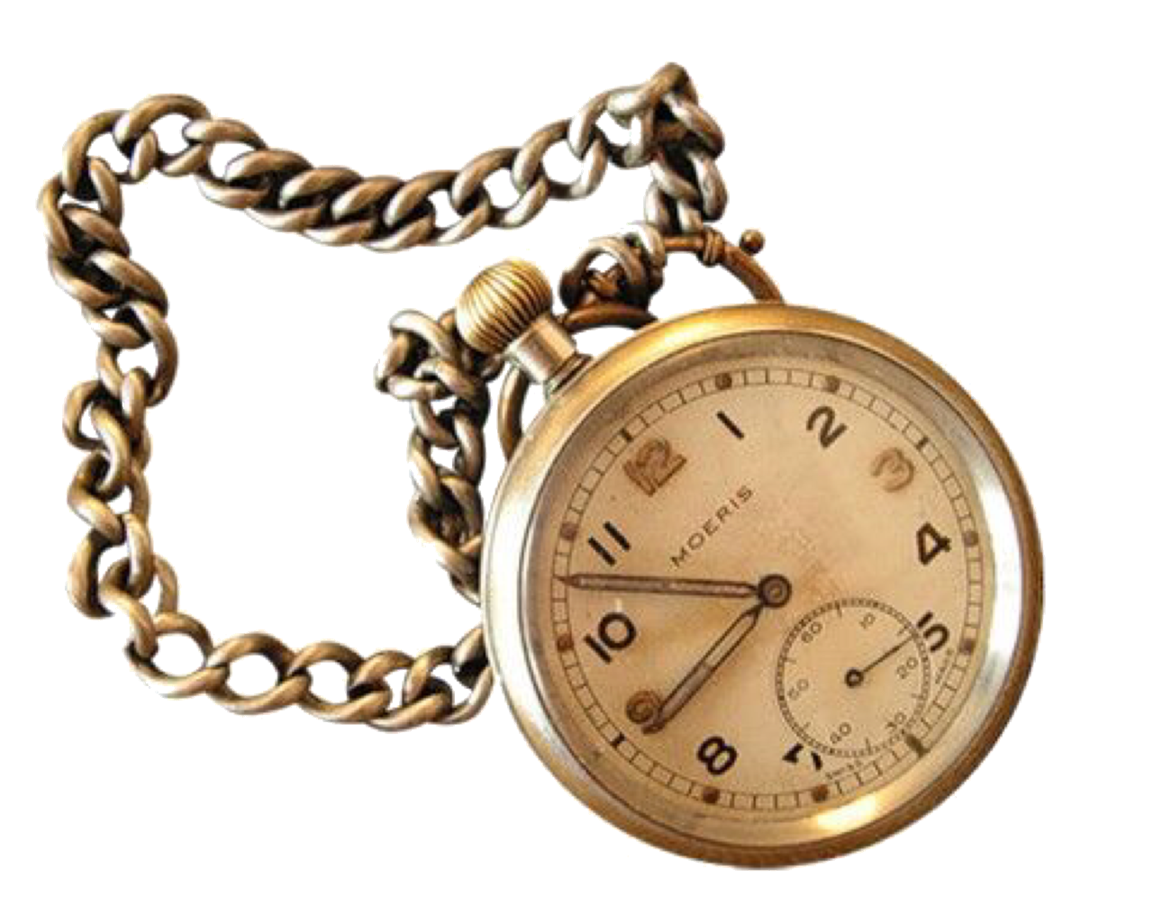 Vintage Bronze Pocket Watch png