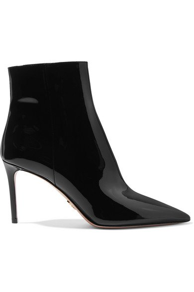 Prada | 85 patent-leather ankle boots | NET-A-PORTER.COM