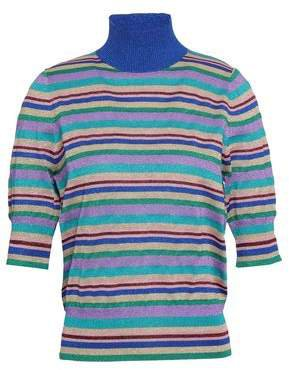 Metallic Striped Knitted Top