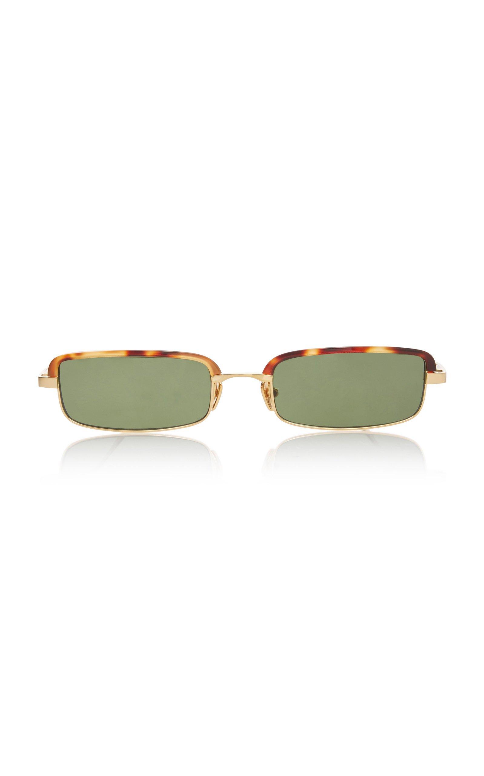 Linda Farrow Leona Stainless Steel Square-Frame Sunglasses