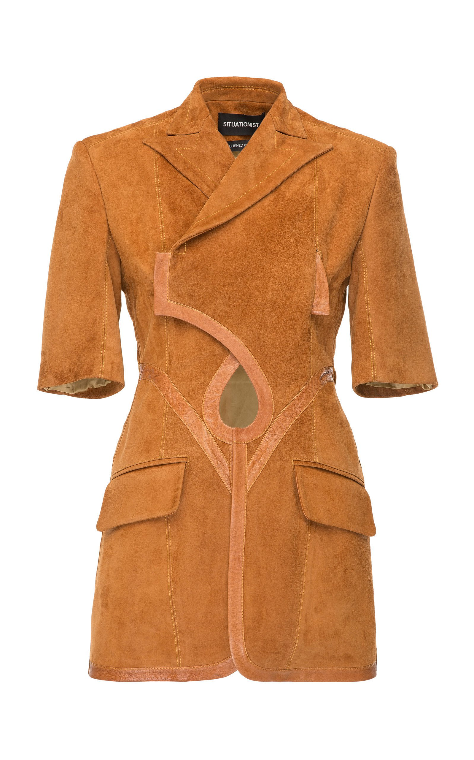 SITUATIONIST Leather Cutout Jacket