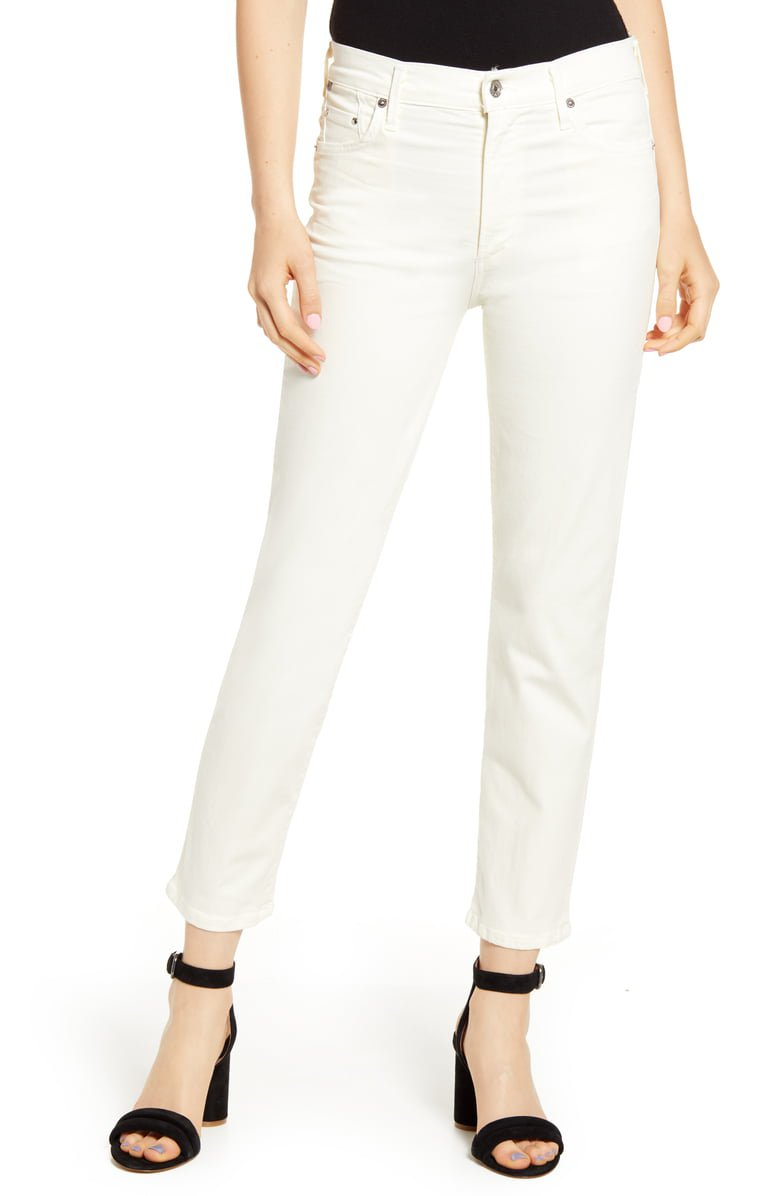 Citizens of Humanity Cara Ankle Cigarette Jeans (Sculpt Light Cream) | Nordstrom
