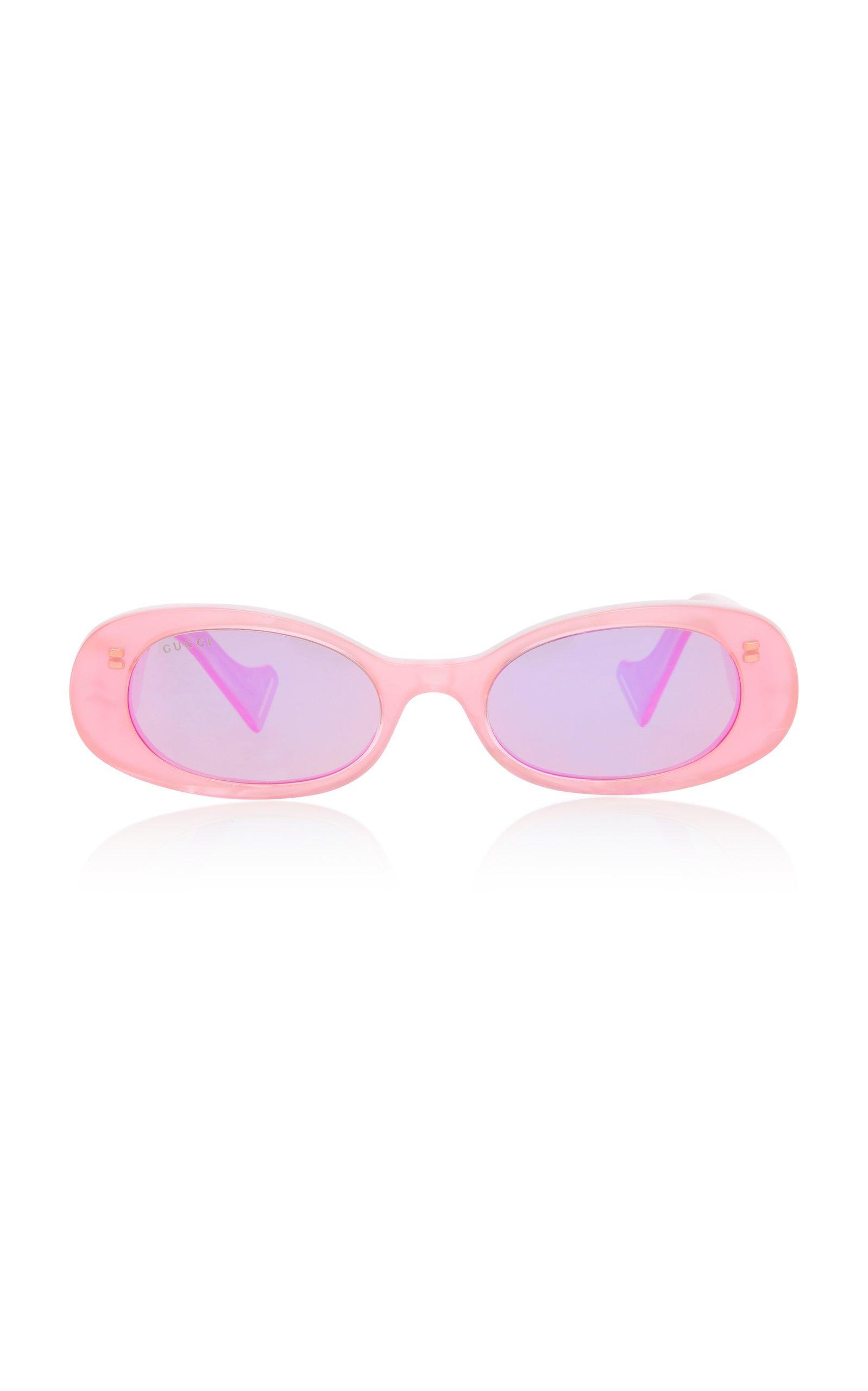 Oval-Frame Acetate Sunglasses by Gucci | Moda Operandi