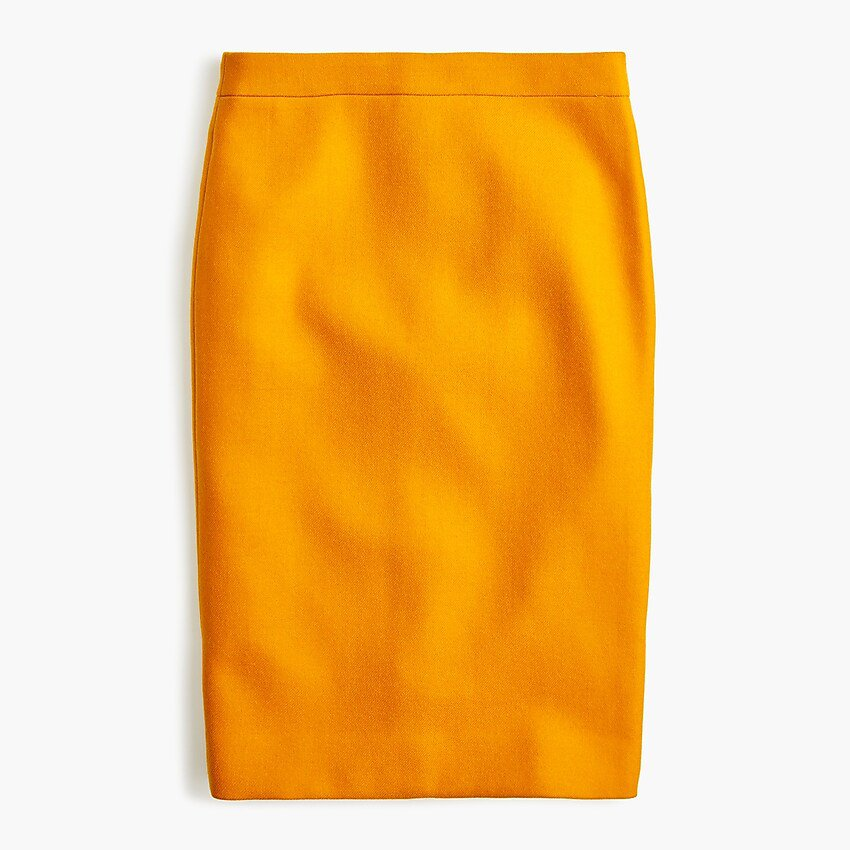 No. 2 Pencil Skirt In Double-serge Wool - Women's Skirts | J.Crew yellow