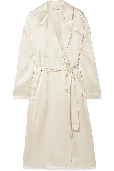 Mansur Gavriel | Silk-satin trench coat | NET-A-PORTER.COM