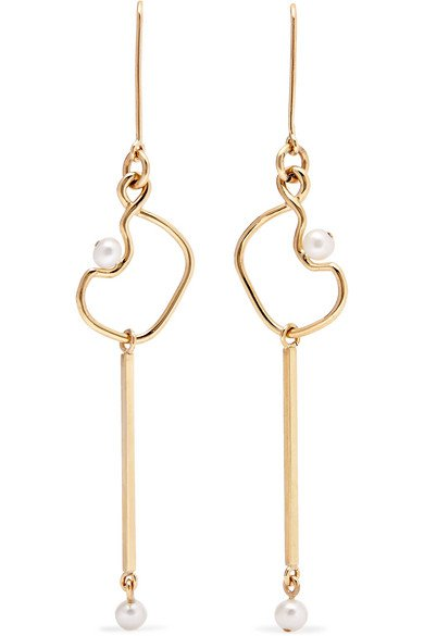 Meadowlark | Clio 9-karat gold pearl earrings | NET-A-PORTER.COM