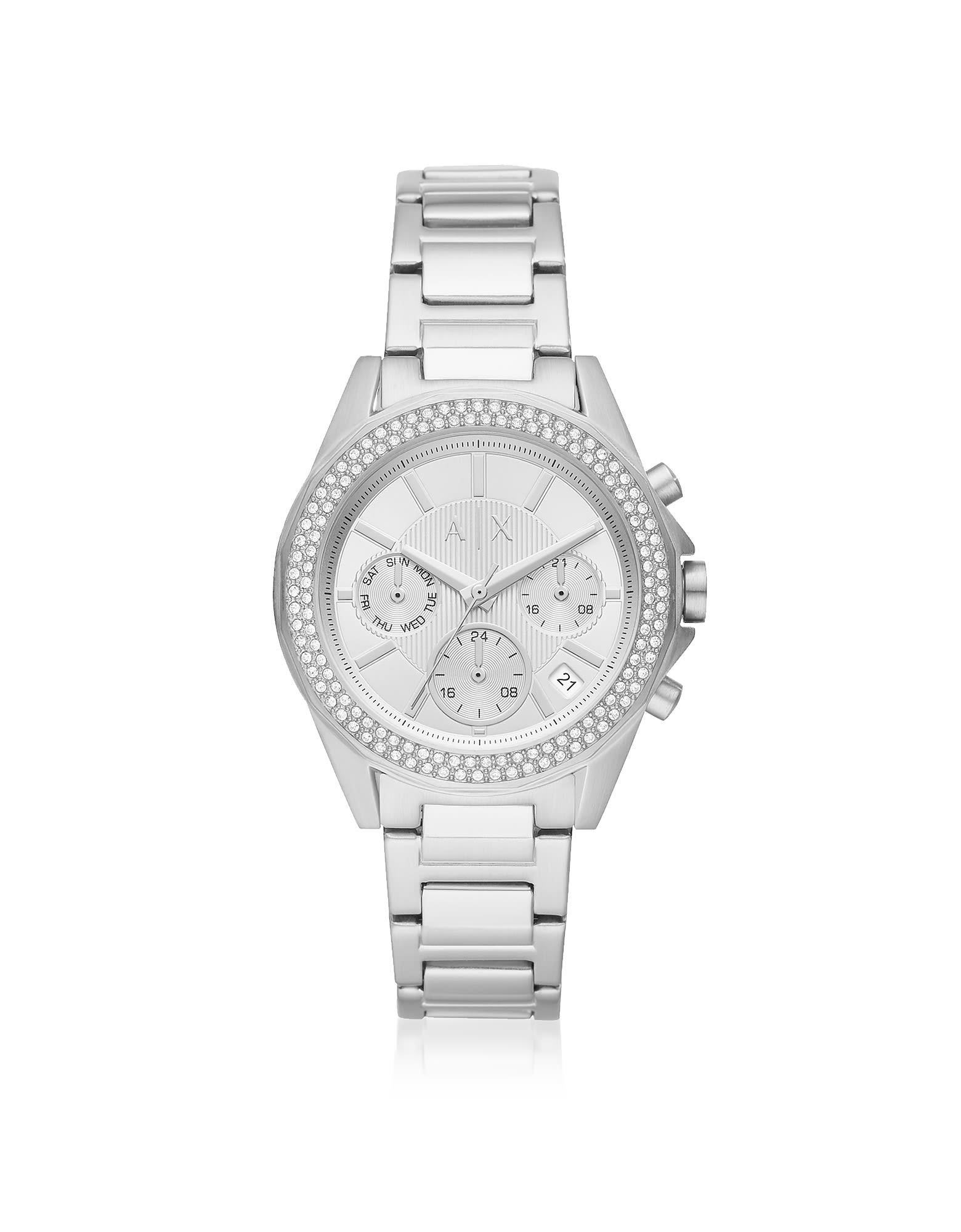 Armani Exchange Lady Drexler Stainless Steel Chronograph Watch
