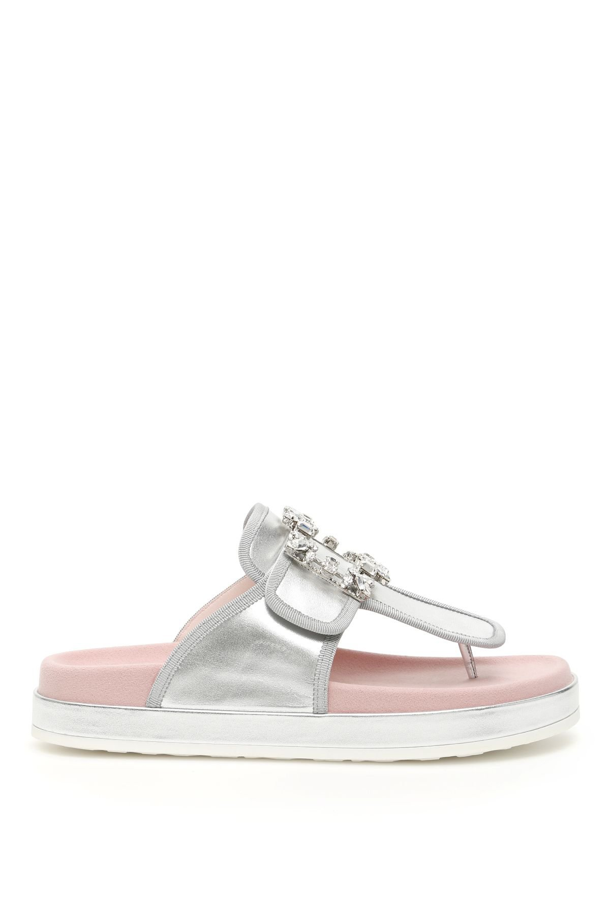 Roger Vivier Rv Broche Thong Sandals