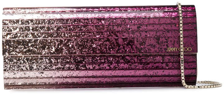 Sweetie dégradé glittered clutch