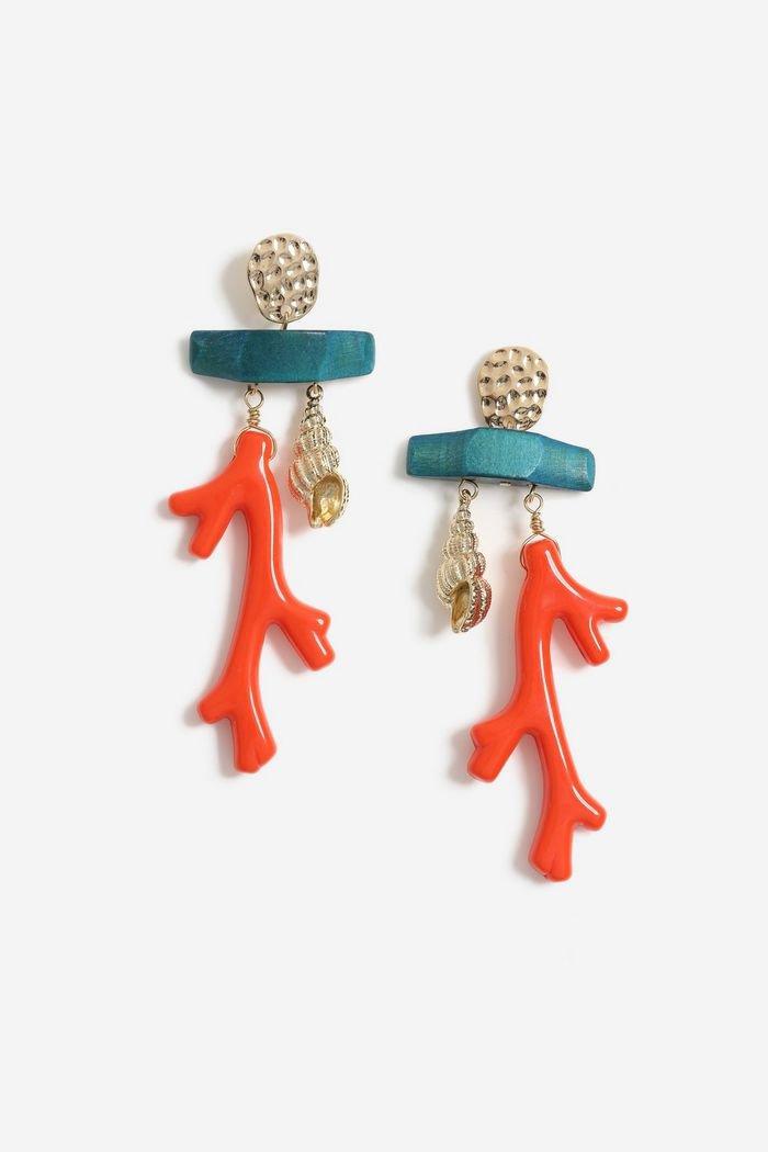 **Coral Drop Earrings   Topshop