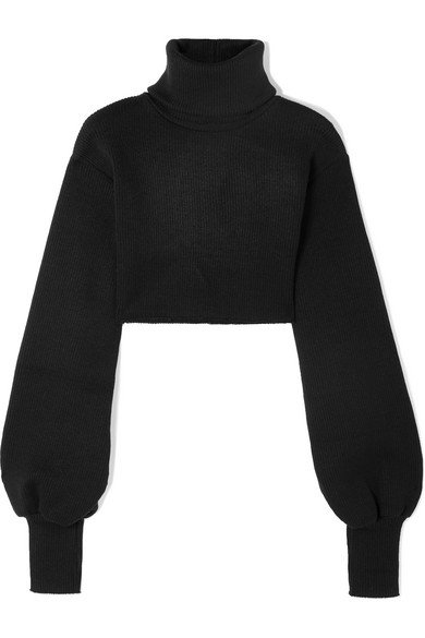 Orseund Iris | Cropped ribbed-knit turtleneck sweater | NET-A-PORTER.COM