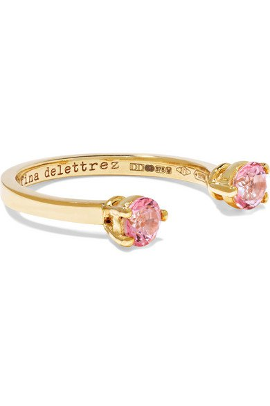 Delfina Delettrez | 9-karat gold topaz phalanx ring | NET-A-PORTER.COM