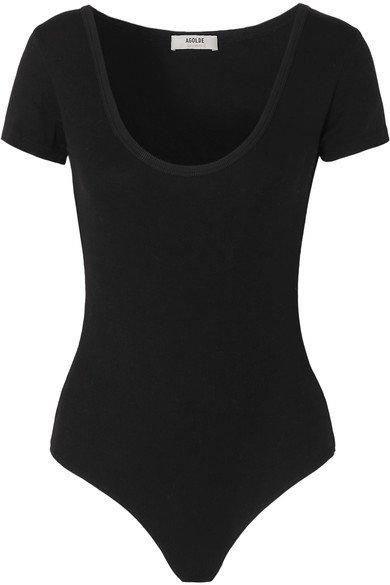 AGOLDE | Ribbed stretch-jersey thong bodysuit | NET-A-PORTER.COM