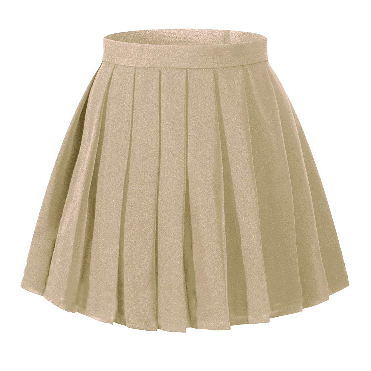 High Waisted Pleated Skirt - Khaki