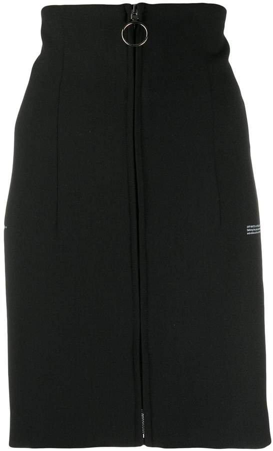 high waisted zipped skirt