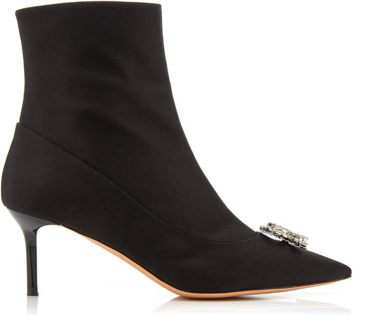 R' Satin Ankle Boots