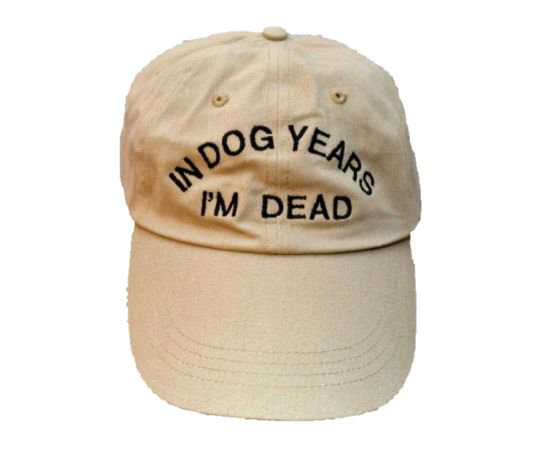 in dog years i'm dead hat