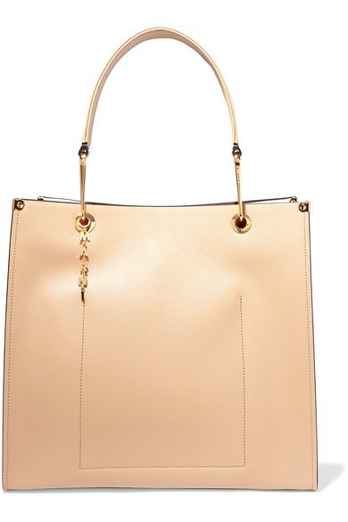 Marni | Large two-tone textured-leather tote | NET-A-PORTER.COM