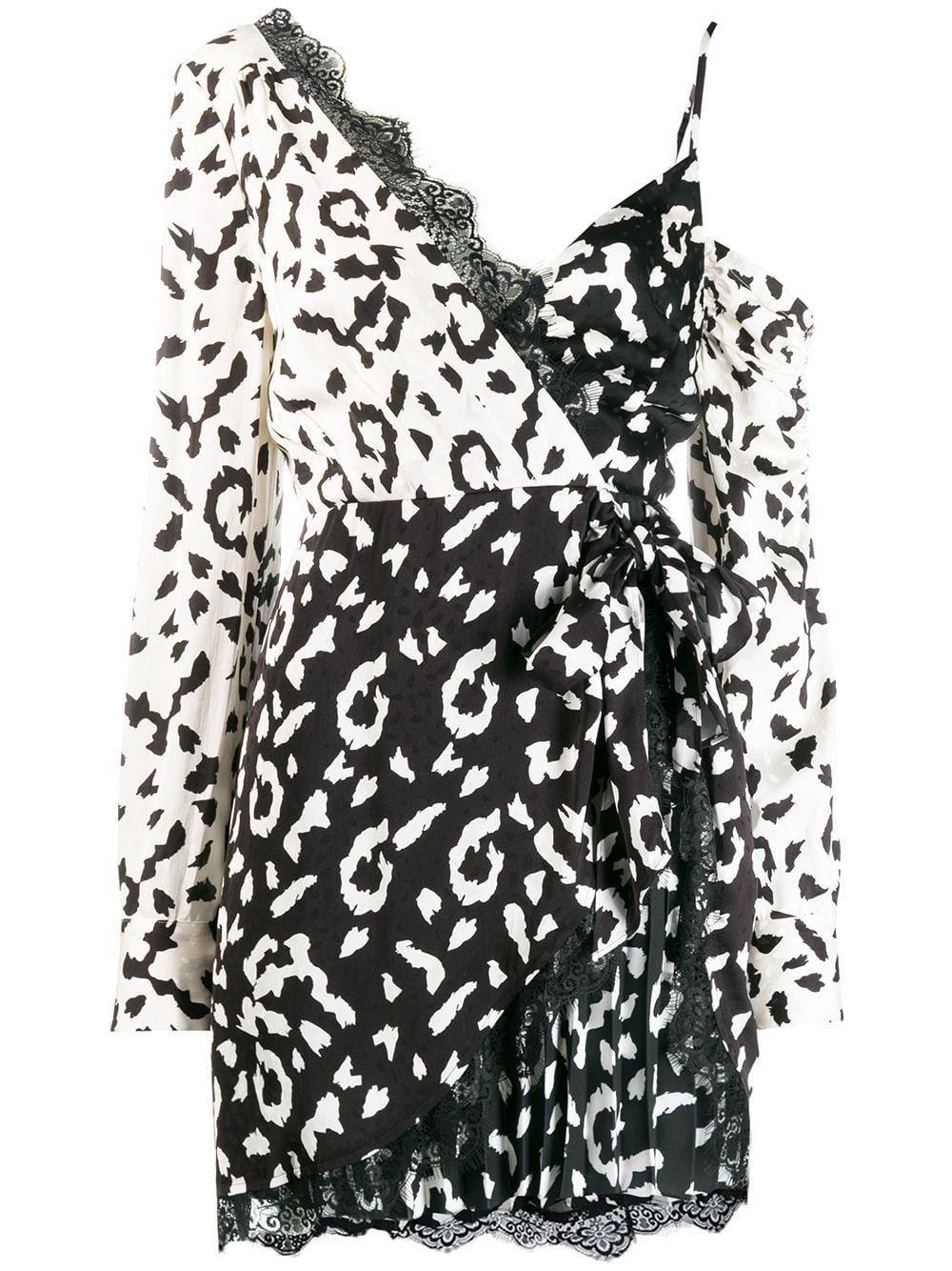 Self-Portrait animal print wrap dress £300 - Shop Online. Same Day Delivery in London