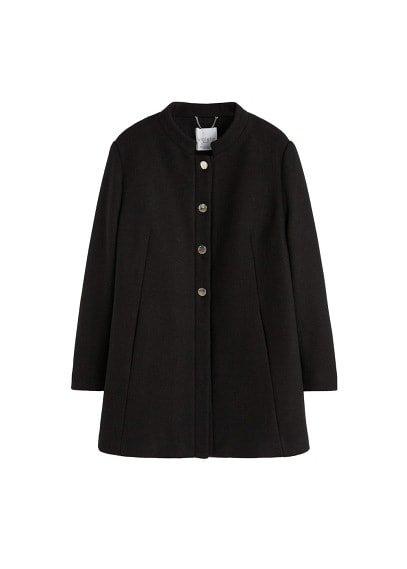 Violeta BY MANGO Buttoned wool coat