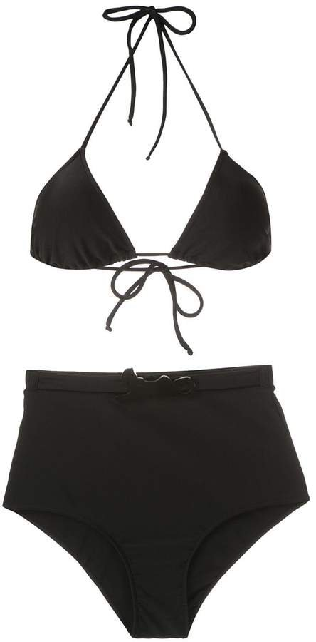 belted hot pants bikini set