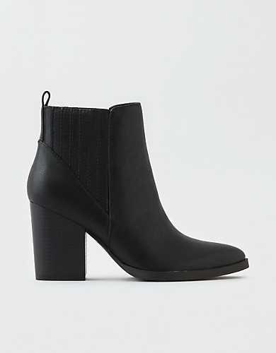 AEO Pointed Toe High Heel Boot black