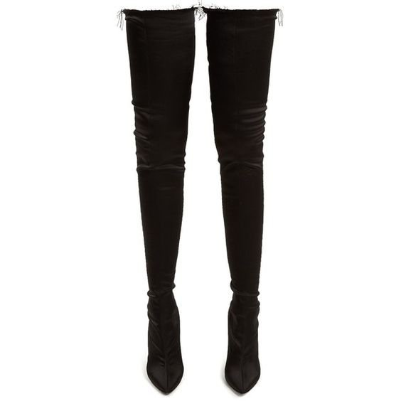 Vetements Thigh-high satin boots