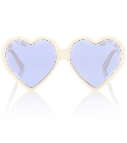Heart-frame acetate sunglasses