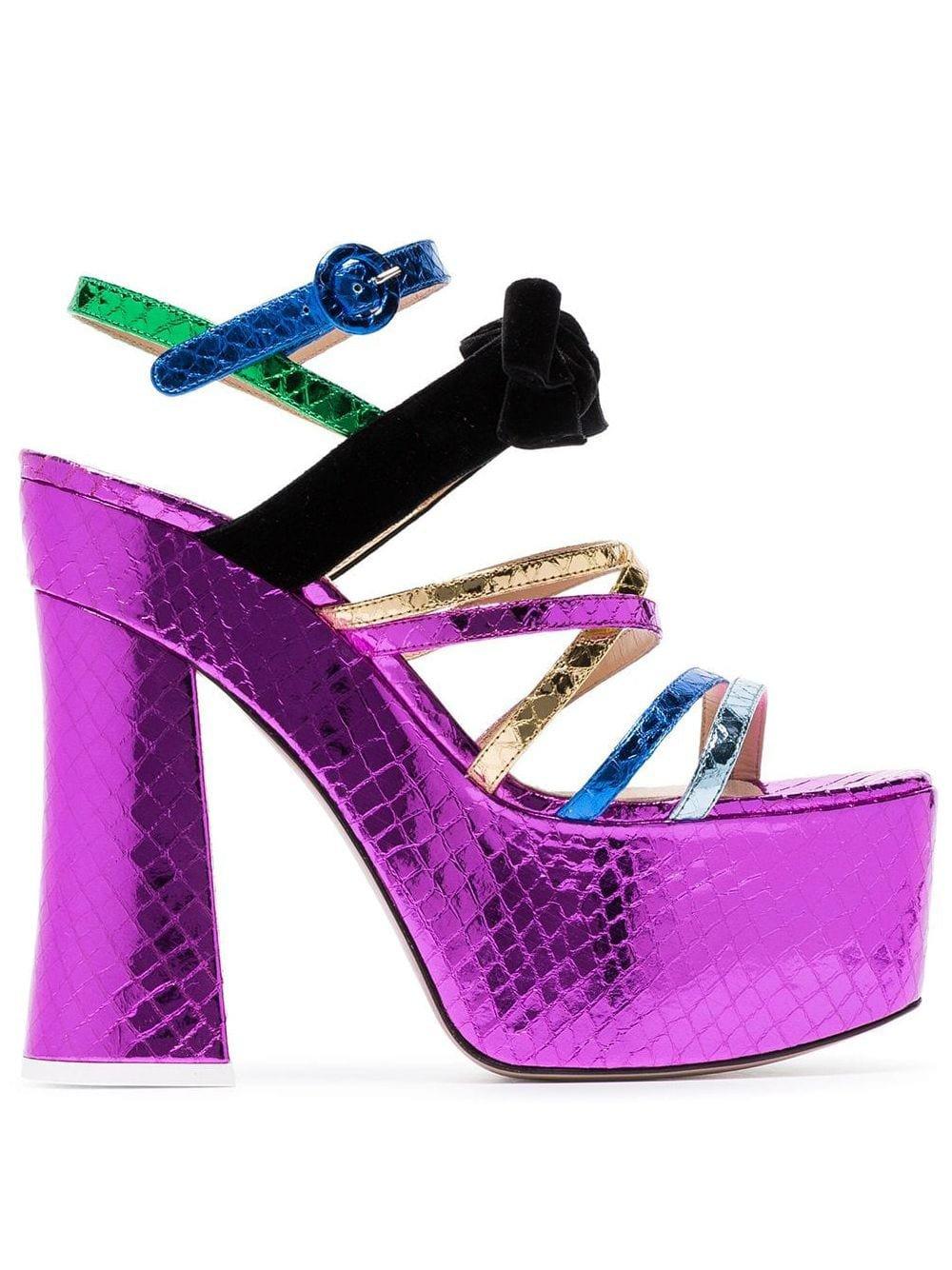 Attico Multicoloured Bibbi Greta Platform Heels - Farfetch