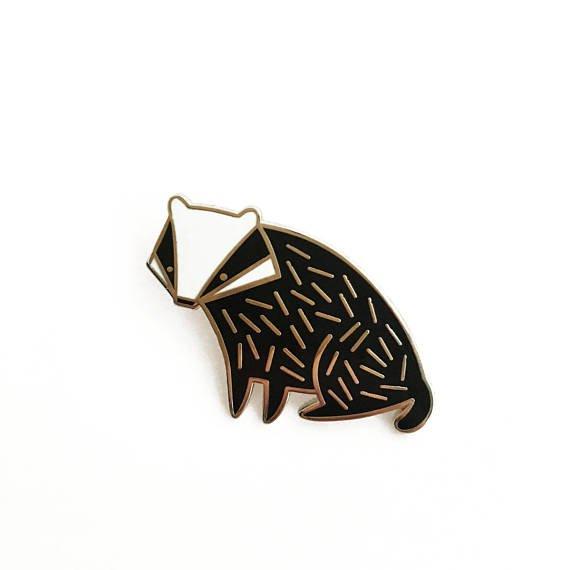 Badger Hard Enamel Lapel Pin Badge Brooch Cute Animal