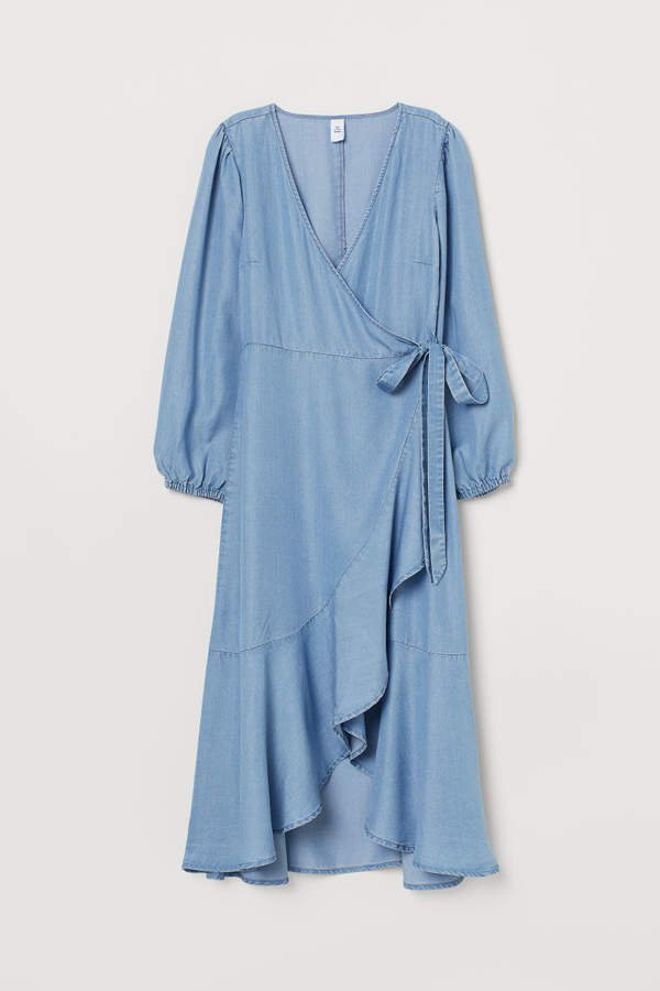 Lyocell Denim Dress - Blue