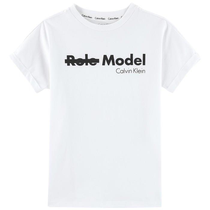 Logo print T-shirt Calvin Klein for girls and boys | Melijoe.com