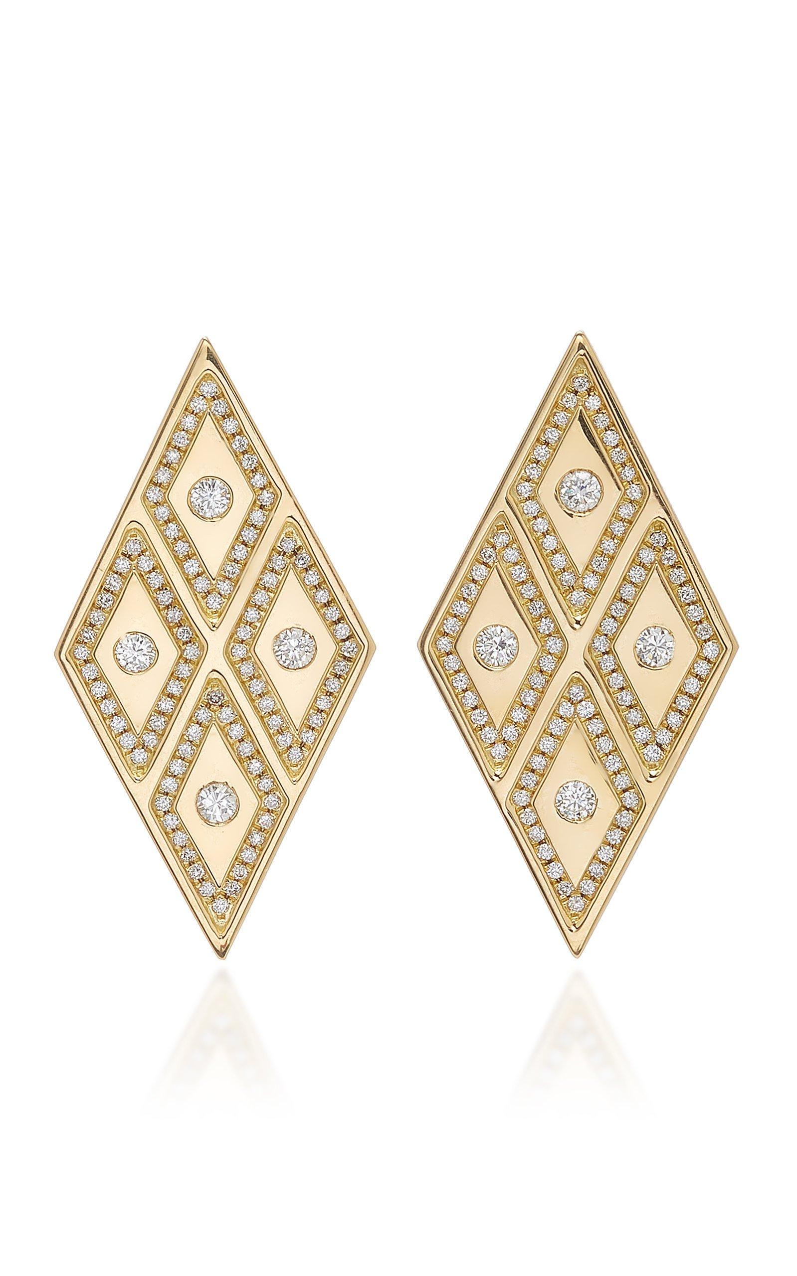 Ralph Masri Heliopolis Rhombus Earrings